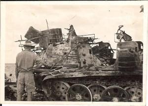 Captured German transport - direct hit