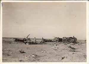German abandonned equipment El Alamein